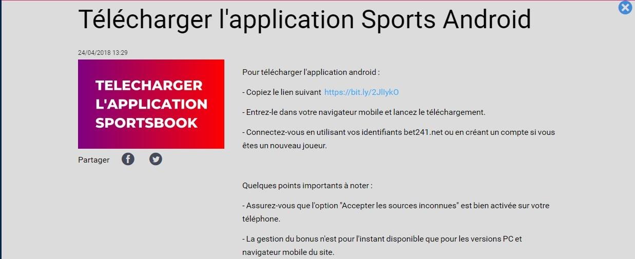 bet 241 application